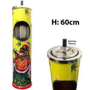 SPINNING GRAPHIC ASHTRAY TIN 60CM