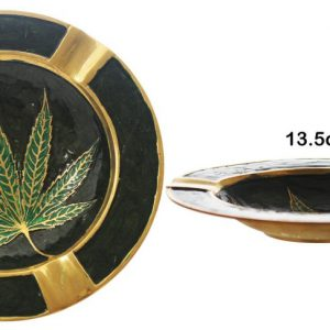 Large Brass Leaf Ashtray Bowl