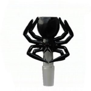 Black Spider Male Glass Herb Holder - Fits 14mm Bong