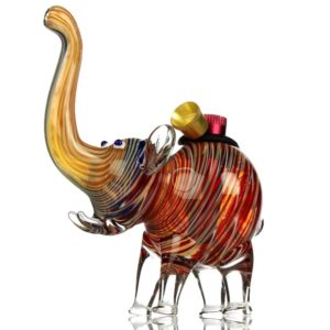 Agung The Elephant Colorful Glass Bong 12cm