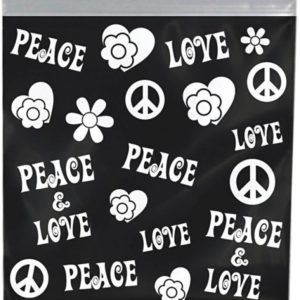 Peace Printed Bag 38mm X 38mm