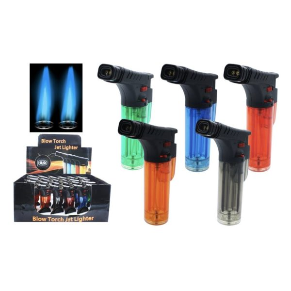 Twin Flame Blow Torch Lighter