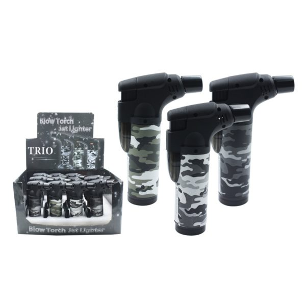 Camo Stand Up Blow Torch Jet Lighter