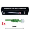 Green Curly Sweet Puff Pipe 14cm x6