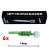 Green Curly Sweet Puff Pipe 14cm x2