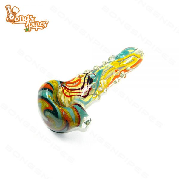 Agung Glass Dry Pipe Dots 12cm