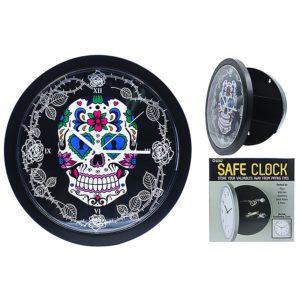 Candy Skull Safe Clock