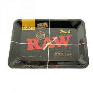 Classic Black Raw Rolling Metal Tray