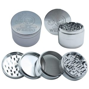 Weedo High Grade Laser Cut 4pc Grinder