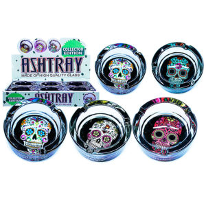 Candy Skulls Glass Ashtray