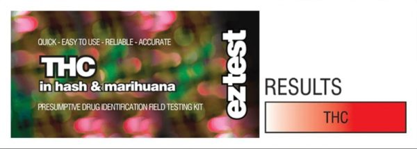 THC: EZ Test Tube for THC in Hash and Marihuana