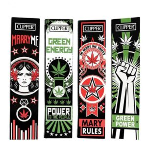 Clipper 420 Collection Propaganda King Size Slim Rolling Papers with Tips