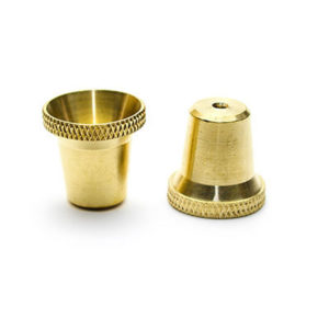 Medium Bonza Cone Brass Bong Piece