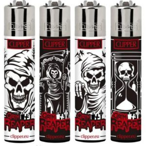 Clipper Grim Reaper Large Refillable Gas Lighter