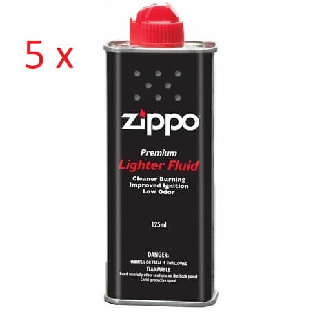 Zippo Genuine Lighter Fluid 125 ml x5