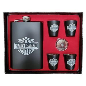 Harley Davidson Flask Set
