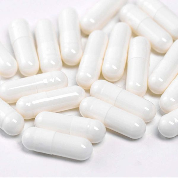 100 Size 5 Bulk Vegetable Gelatin White Empty Capsule Medicine Pill Drug
