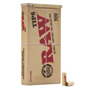 Raw Pre Rolled Tips 100 Pack Tin