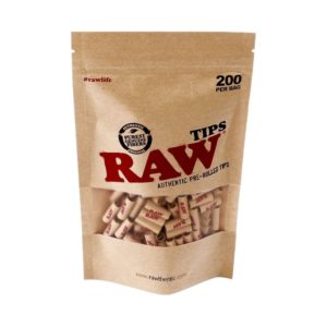 Raw Pre Rolled Tips 200 Pack Bag