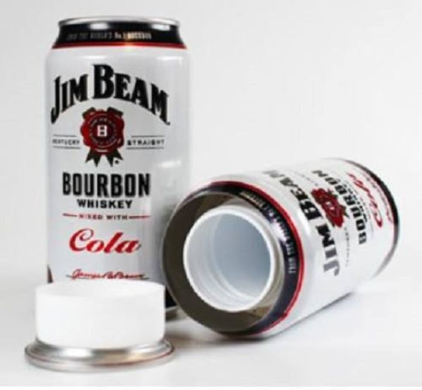 Diversion Safe Jim Beam Bourboun Whiskey Cola Premixed Can