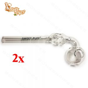 Skull Sweet Puff Pipe with Clear Balancer 14cm x 2