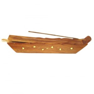 Ash Catcher Wooden Box Boat Incense Burner