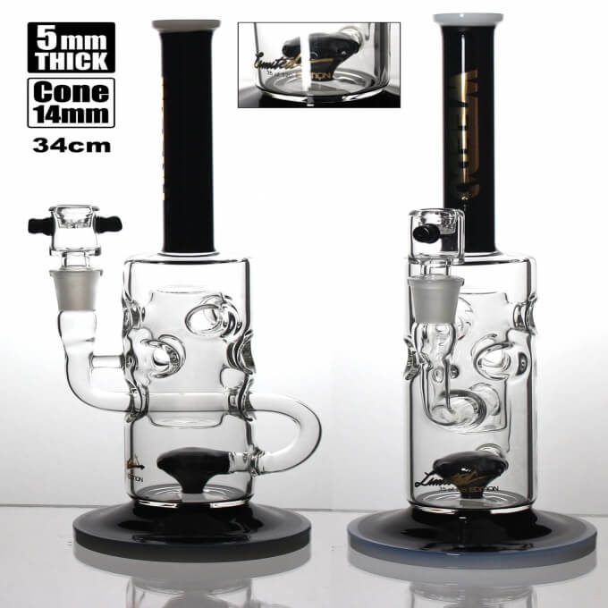 WEEDO Limited Edition Recycler Black n Gold 34cm