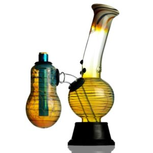 Agung Launcher Chamber Color Glass Bong 25cm