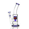 Agung Percolator Full Glass Bong Blue 23cm