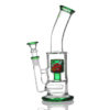 Agung Percolator Full Glass Bong Green 23cm