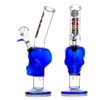 MWP Blue Glass Skull 27cm