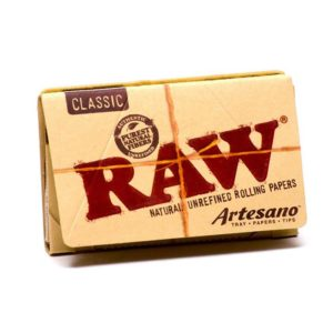 RAW Classic Rolling Papers Artesano 1 1/4 + Filter Tips + Tray