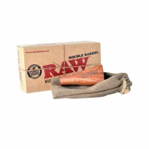 Raw Double Barrel Wooden Cigarette Holder 1 1/4