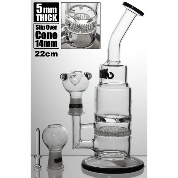 WEEDO Gold Label 22cm water pipe with circular perc double chamber