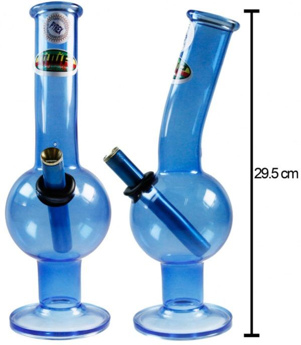 MWP Blue All Glass Bent Bubble 29.5cm