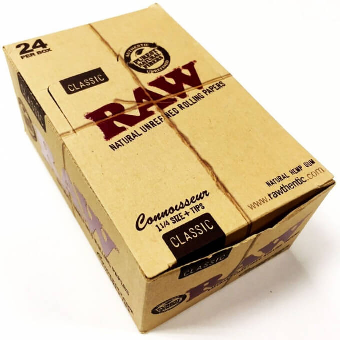 RAW Classic 1 1/4 Connoisseur Natural Unrefined Hemp Papers