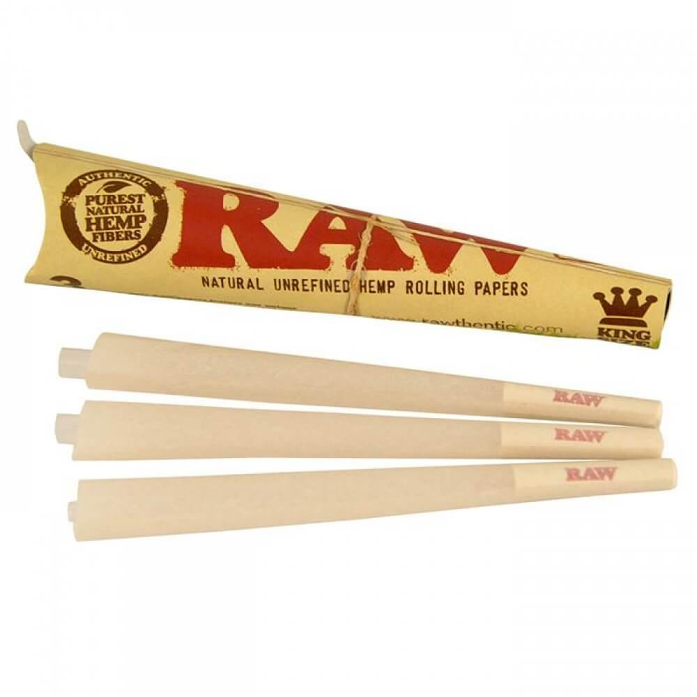 RAW Organic Pre Rolled Cones King Size - 3 Pack