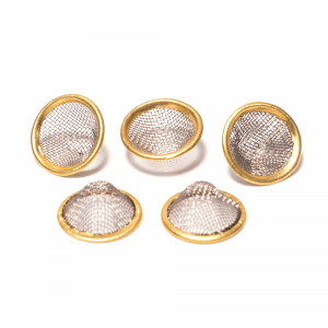 5 X BRASS RIM MESH PIPE SCREENS