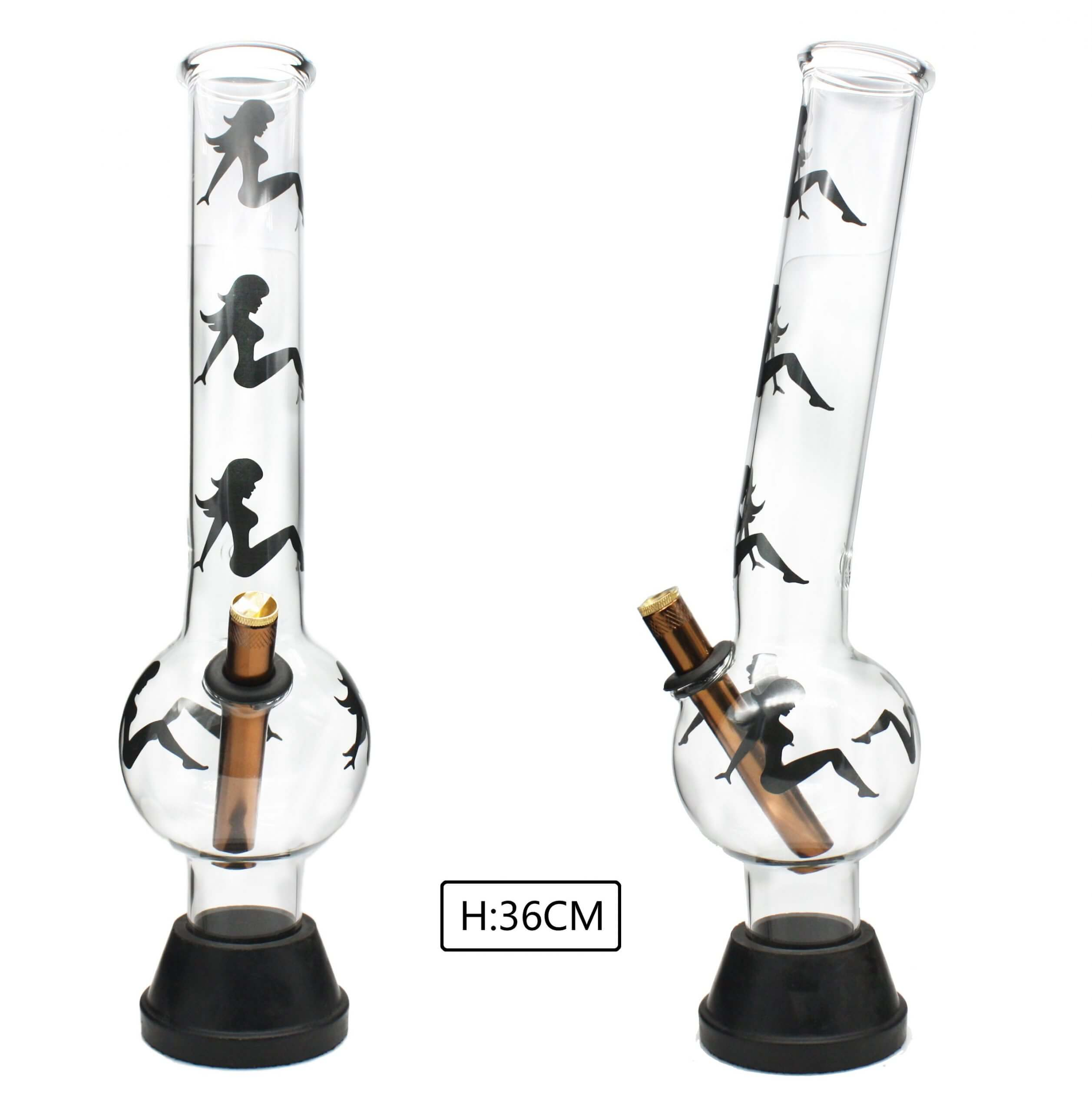 XLarge Glass Bonza Bubble Sexy Girl 36cm