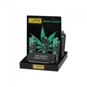 clipper-metal-lighters-green-leaves