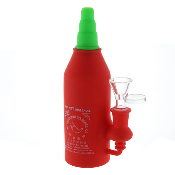 420 Hot Chilli Sauce Silicone Waterpipe 17.5cm