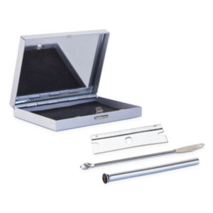 Snuff Kit With Aluminium Case In Built Mirror