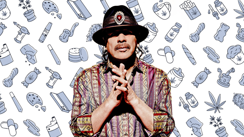 3 weed products Carlos Santana can't live without